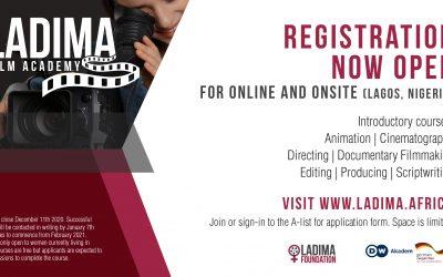 LADIMA FILM ACADEMY: APPLICATIONS NOW OPEN