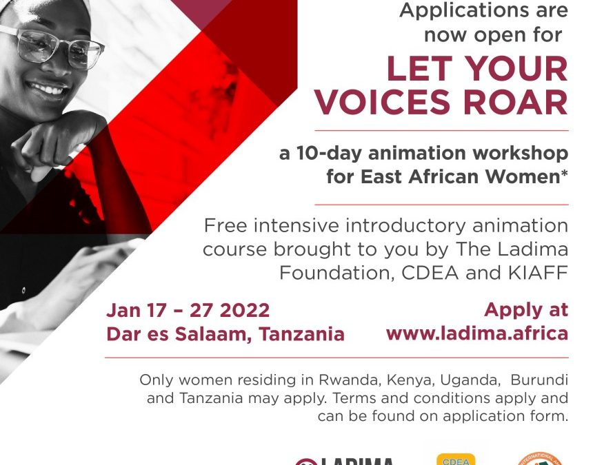 APPLICATIONS NOW OPEN: ANIMATION TRAINING FOR EAST AFRICAN WOMEN